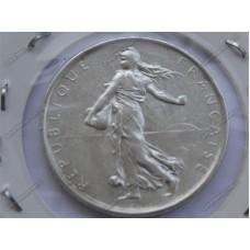 سکه نقره قدیمی و کمیاب 5 فرانک فرانسه 1962 باکیفیت عالی