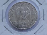 سکه نقره قدیمی و کمیاب 5 مارک آلمان نازی 1935میلادی