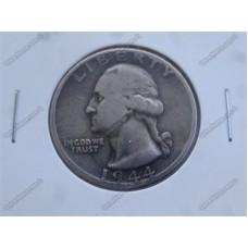 سکه نقره قدیمی و کمیاب کوارتر دلار آمریکا 1944میلادی