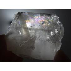 یک قطعه کلکسیونی از سنگهای کلسیت رنگین کمانی فوق العاده شفاف -4