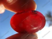 نگین عقیق قرمز طبیعی زیبا و بی نظیر -سایز بزرگ ( 8.4 گرم)