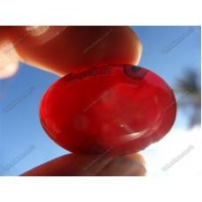 نگین عقیق قرمز طبیعی زیبا و بی نظیر -4