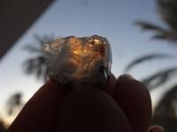 سنگ قیمتی طبیعی و راف  اوپال ژله ای آتشین به وزن 29 قیراط