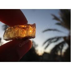 سنگ قیمتی طبیعی و راف  اوپال ژله ای آتشین به وزن 52 قیراط