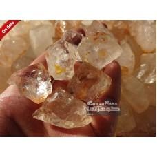سنگهای کریستالی درکوهی طبیعی و راف با شفافیت عالی